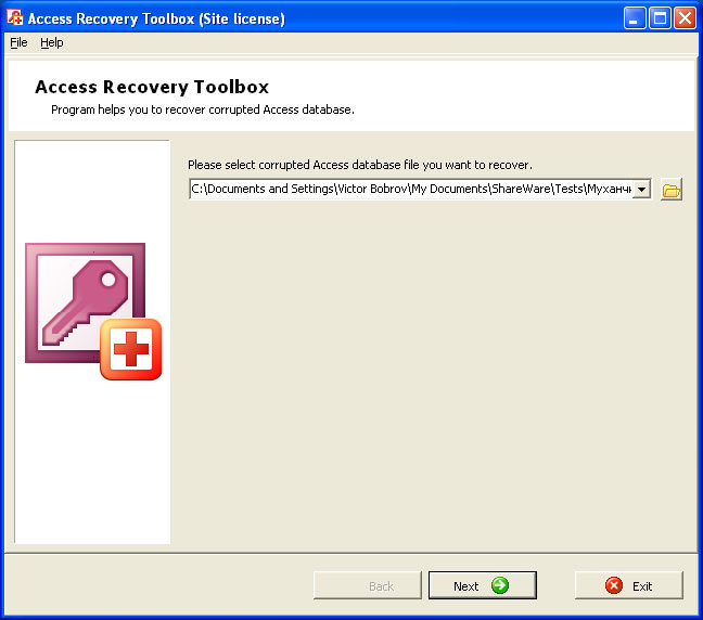 Access Recovery Toolbox Screen shot