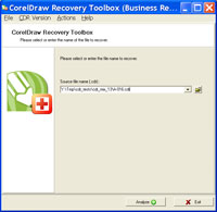 Click to view CorelDraw Recovery Toolbox 1.0.0 screenshot