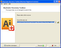 Click to view Illustrator Recovery Toolbox screenshots