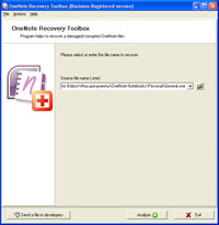 Click to view OneNote Recovery Toolbox screenshots