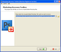 Click to view Photoshop Recovery Toolbox screenshots
