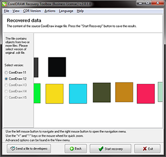 CorelDraw Recovery Toolbox