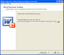 Word Recovery Toolbox 2.0.2 screenshot